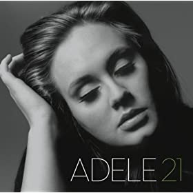 Black and white photographic album cover for 21 by the artist Adele