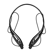 buy Sunvito Bluetooth Headsets Lightweight Wireless Stereo Bluetooth Vibration Neckband Style Earbuds Headphones Headsets W/Microphone For Iphone 5S 5C 4S 4, Ipad 2 3 4 New Ipad, Ipod, Android, Samsung Galaxy, Smart Phones Bluetooth Devices--Black