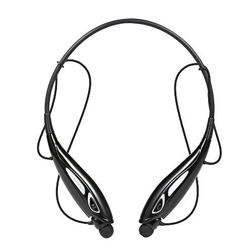 Ecandy(イケンディ) 軽量ワイヤレスステレオ-740TBluetooth振動ネックバンドスタイルインナーイヤーヘッドフォンヘッドセット (黒い)