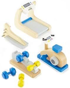 Hape - E3458 - Mobilier De Poupée - Gym Et Fitness À La Maison