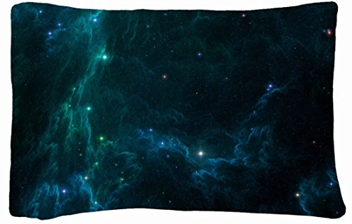 Microfiber Peach Standard Soft And Silky Decorative Pillow Case (20 * 26 Inch) - Nature Space Outer Space Stars Nebulae front-777302