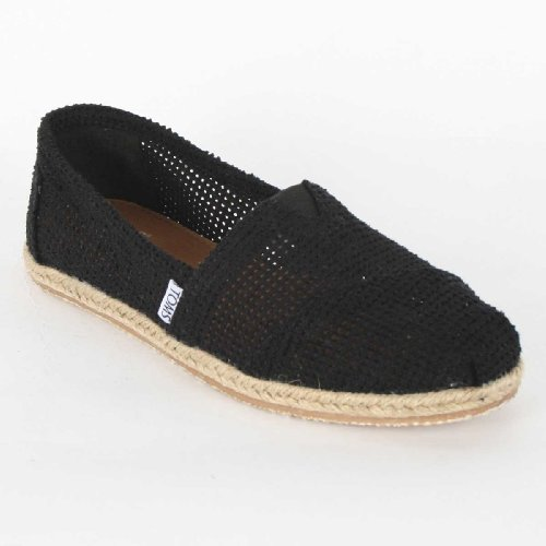 6311633a637 TOMS Women's TOMS CLASSICS BLACK FREETOWN WMNS CASUAL SHOES 10 Women US  (BLACK)