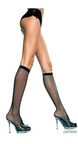 Flirty Fishnet Knee High Stockings (Color Choices)