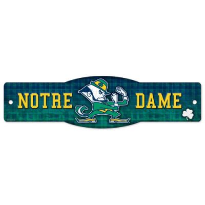 Notre Dame Fighting Irish Official NCAA College Sports Team Logo 4″x17″ Street Sign