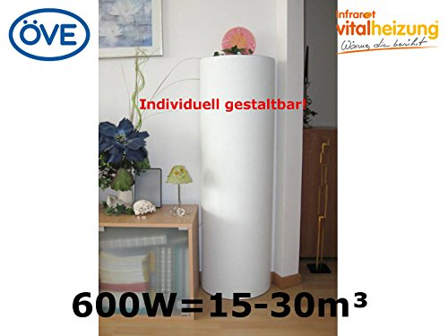 600Watt-InfrarotheizungSulenheizung-120x38x19-cm-fr-Rume-15-30m-bemalbar-VITALSULE