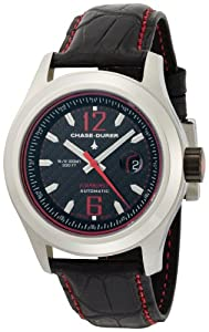 Chase-Durer Men's 990.2BR-ALLI Starburst Automatic Red-Stitched Leather Strap Watch from Chase Durer