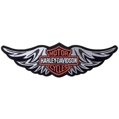 Straight Wing Silver Patch - Small - Harley-Davidson