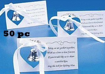 Silver Wedding Mini Bell Decorations Favors (Set