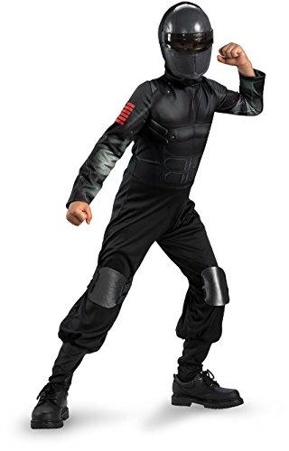 [G.i. Joe Retaliation Snake Eyes Classic Costume, Black, Medium] (Gi Joe Snake Eyes Costume Kids)
