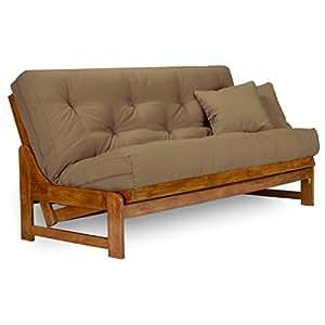 arden futon set queen size frame 8 mattress twill