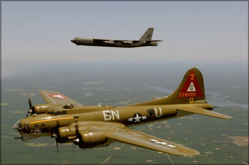B-17 Flying Fortress and B-52 Stratofortress - 24