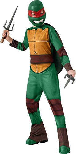 Teenage Mutant Ninja Turtles Childs Raphael Costume Size Small with Sais Sword