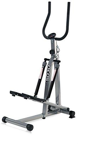 JK Fitness 5030 Stepper Richiudibile, Argento/Nero