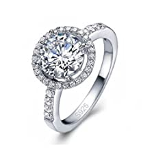buy The Sea Of Jewels - 925 Sterling Silver Luna Cubic Zirconia Wedding Ring (10)