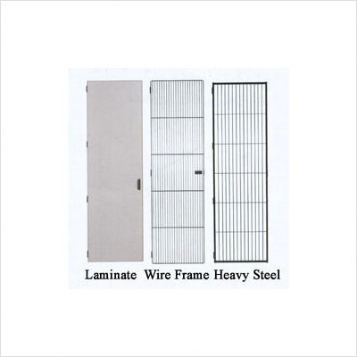 Harmony 27 W Wardrobe Storage Body/Trim: Almond/Gray, Door Style/Color: Heavy Duty Steel/Brown