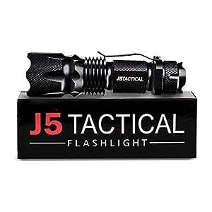J5 Tactical V1-Pro Flashlight - The Original 300 Lumen Ultra Bright, LED 3 Mode Flashlight