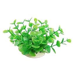 Fish Tank Aquatic Dwarf Green Plastic Plant Decoration