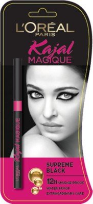Stock Up On Make-Up!! Upto 25% Off Or More Off On Make Up Essentials By Amazon | L'oreal Paris Kajal Magique 0,35g (Black) @ Rs.209