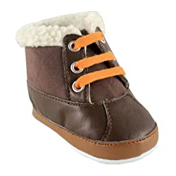 Luvable Friends Baby Faux Suede Winter Boots, Tan, 12-18 Months