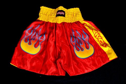 Sidekick Kids Boxing Muay Thai Kickboxing Fight Shorts Red Martial Arts