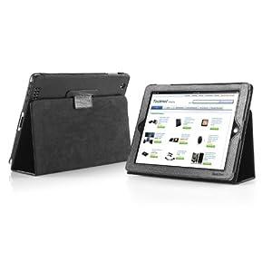 TeckNet® iPad 4 & iPad 3 & iPad 2 Cover / Stand / Case pour Apple iPad iPad 2 & 3 & 4, avec rabat/stand de positionnement, support et le sort de veille - Noir