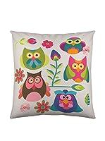 Valentina Funda De Cojín Owls (Multicolor/Gris)