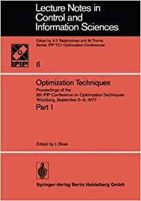 Optimization Techniques: Proceedings of the 8th IFIP