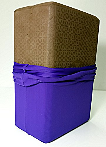 Premier Fitness hygienic Yoga block covers 2 pack. Machine washable. (Blocks not included) (purple)
