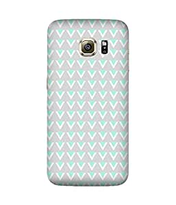 Blue And White Pattern Samsung Galaxy S6 Edge Case