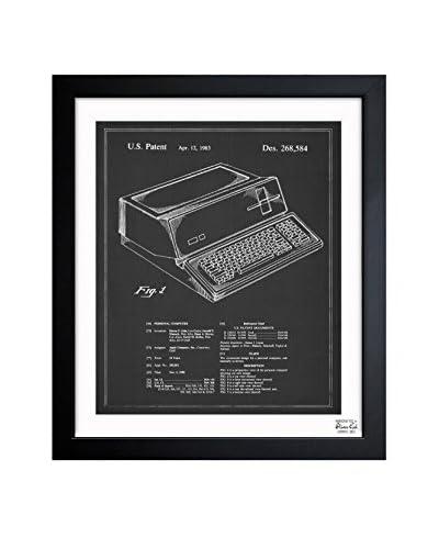 "Oliver Gal Artist Co. ""First Apple Personal Computer, 1983 - Noir"" Framed Art"
