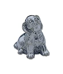 Reed & Barton Silver-plated Puppy Music Box