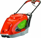 Flymo Glide Master 380 Electric Hover Mower - Flymo glide master 380 hover mower orange 1750W 38cm cutting width 3 cutting heights metal blade type 35L volume