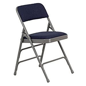 Hercules 1 Padded Metal Folding Chairs Navy Sports