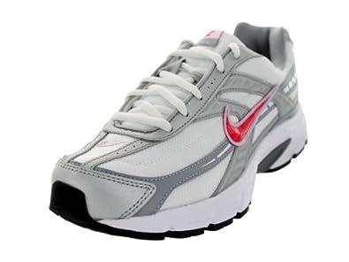 Nike Women's Initiator White/Cherry/Mtllc Slvr/Mst Bl Running Shoe 6 Women US
