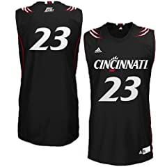 NCAA adidas Cincinnati Bearcats #23 Replica Basketball Jersey - Black by adidas