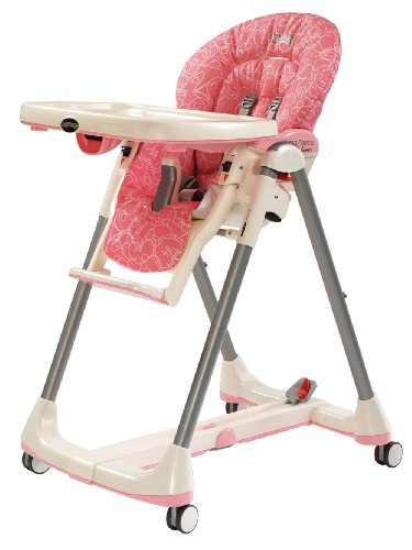 Peg-Perego 2011 Prima Pappa Diner High Chair, Naif Rose front-839943