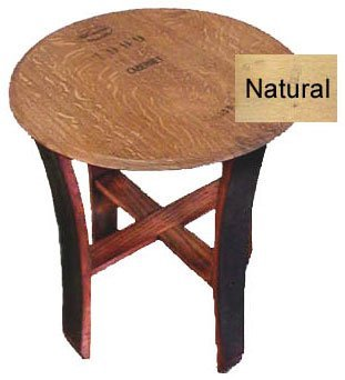 "Wine Barrel End Table - Natural (Natural) (22""d x 25""h)"