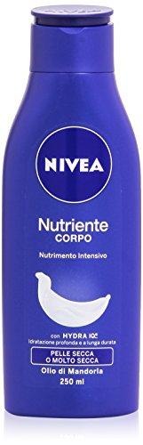 Nivea - Nutriente Corpo, Crema Idratazione Profonda e a Lunga Durata, Olio di Mandorla , 250 ml