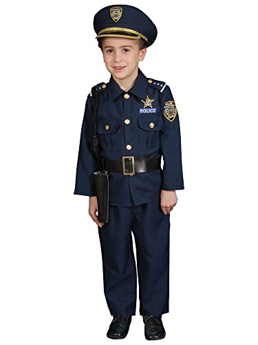 Deluxe Police Dress Up Costume Set – Small 4-6