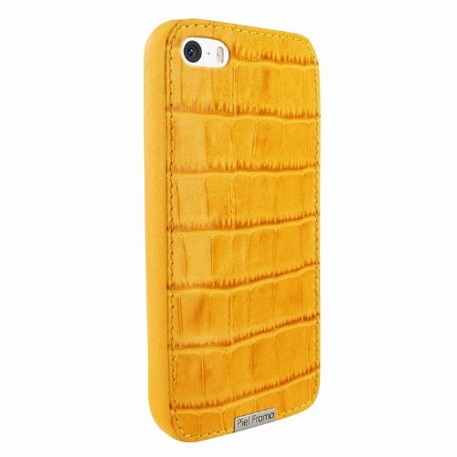 Special Sale Apple iPhone 5 / 5S Piel Frama Yellow Crocodile FramaGrip Leather Cover