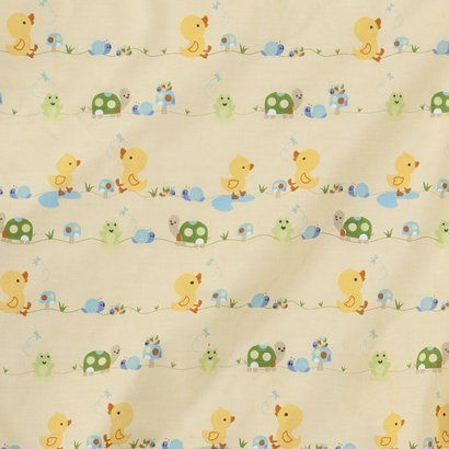 Tiddliwinks in the Pond Fitted Crib Sheet - Yellow/green - 1