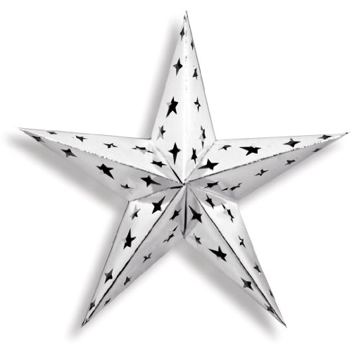 Beistle Dimensional Foil Star, 12-Inch