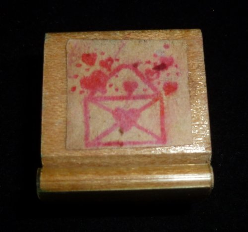 Hearts Love Letter Rubber Stamp - 1