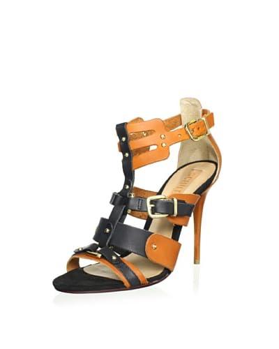 Schutz Women's Hardware Sandal  [Clay/Black]