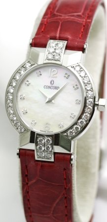 Concord La Scala Diamond Markers Diamond Bezel Women's Watch