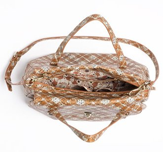 Marc By Marc Jacobs Marc by Marc Jacobs Static Plaid Aurora Satchel Bag Purse Tote Copper Penny Multi