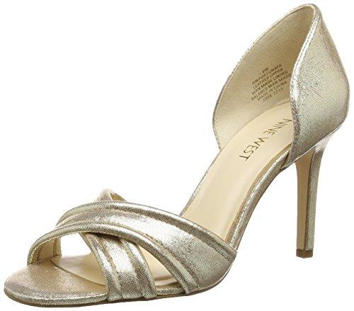 Nine WestFortunata - Scarpe col tacco Donna , Oro (Or (Platino)), 41