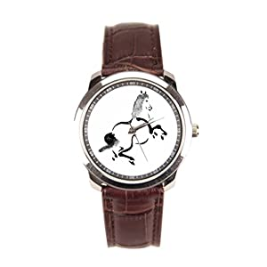 Dr. Koo Horse Leather Bracelet Watch Digitally Enhanced Leather Strap Watches