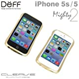 【iPhone 5/5S専用】CLEAVE ALUMINUM BUMPER Mighty2 for iPhone5/5S(ゴールド/シルバーメタリック)/Deff