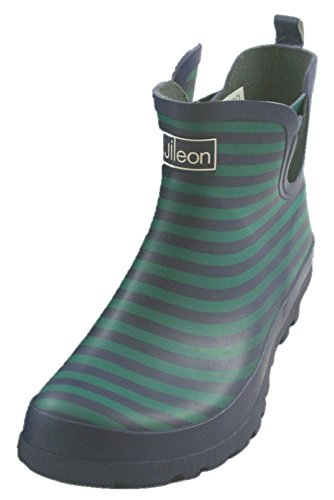 Jileon Blue Striped Ankle Rain Boots for Women - Widest Fit Boots in the US - Wide in the Foot and Ankle (Rain Boots Women Size 11 compare prices)